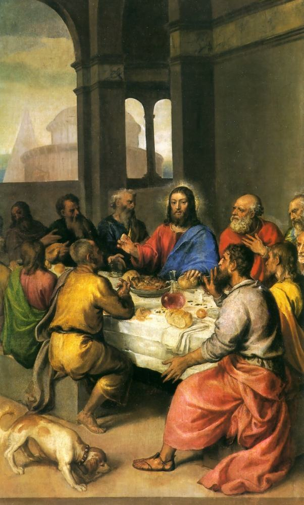 Titian The Last Supper [detail]